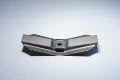 Aerospace bridge clamp coated with WESCOAT® tungsten carbide with cobalt in accordance with PWA specifications.