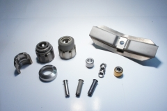 Various aerospace industry in-house manufactured and coated parts