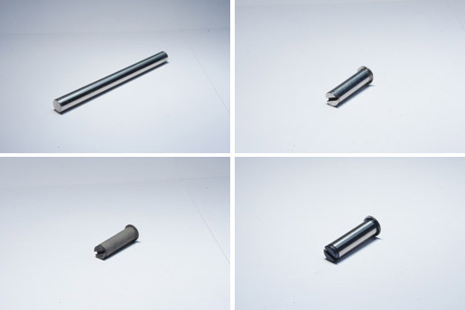 Manufactured part from raw material to final specifications with chromium oxide plasma coating